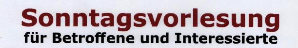 Sonntagsvorlesung am 14. Juli 2019 – Sodbrennen / Refluxkrankheit