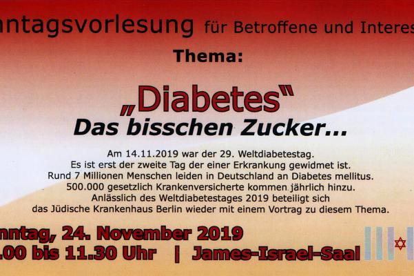 Sonntagsvorlesung am 24. November 2019 – Diabetes