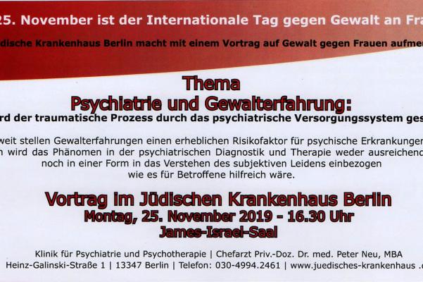 Vortrag am 25. November 2019 – Thema Psychiatrie und Gewalterfahrung